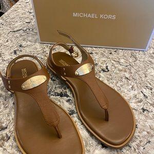 Michael Kors Thong Sandal Gold hardware